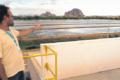 Água de esgoto é tratada para regar vegetação de praças